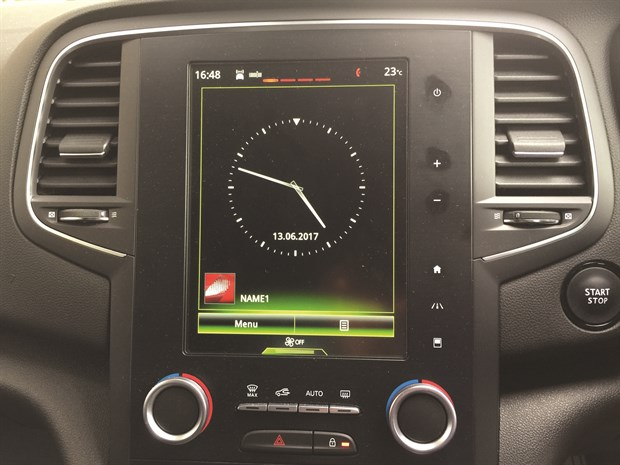 LTT Renault Megane - 1. Screen Clock