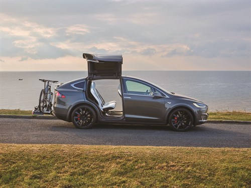 Model X Side Static Open Doors & Bike