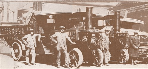 1922 2 Steam Wagons And The Dennis Lorry [1]